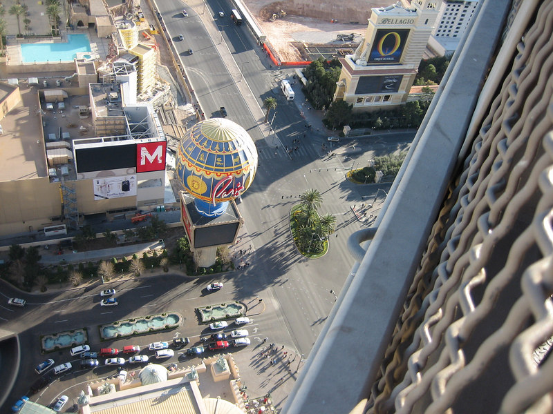 In the Eiffel Tower in the Paris Hotel on the Las Vegas Strip.
