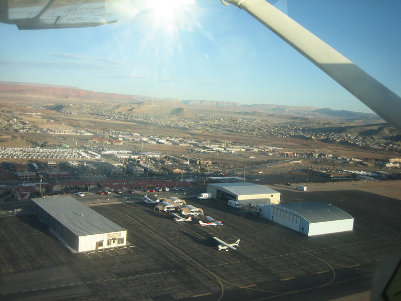 The airport in Saint George, Utah.