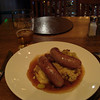 Bangers and Mash... looks simple... tastes GREAT !!<br /> Nine Fine Irishmen @ New York New York