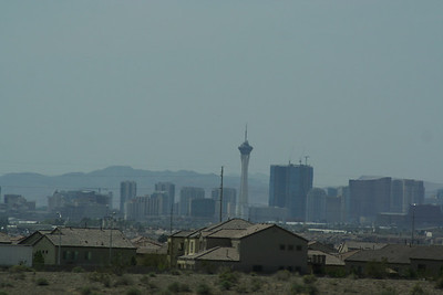View of the Vegas strip.