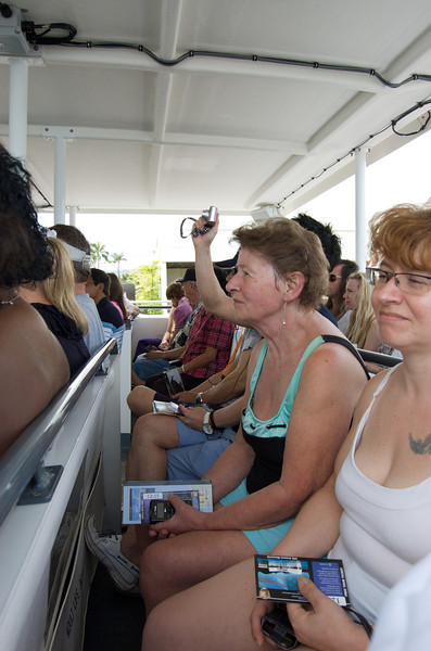The boat ride to the Arizona Memorial