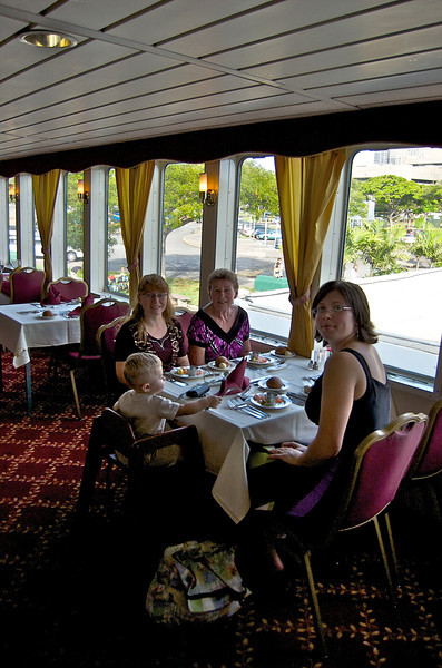 The Royal Dinner Hall, top level with preferred seating right along the port side windows.