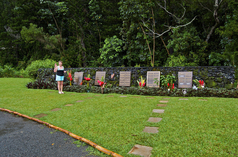 This particular memorial really captured Omi's interest. People interred from when the temple was originally constructed here on the island.