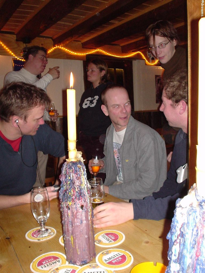 Martin talking some nerd thing with William, Sjoerd trying to follow :D