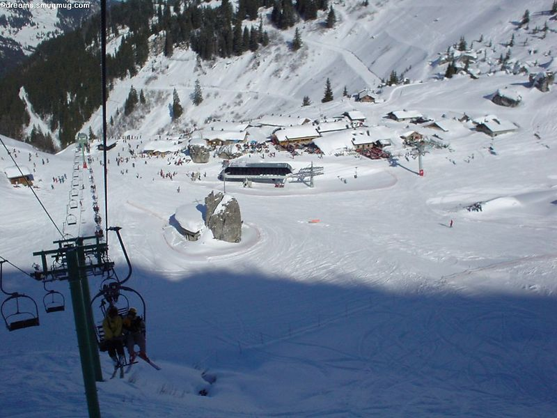 "Great view of the little ""village"" from the lift"