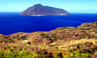 The Island of Salini as seen from Lipari
