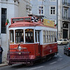 Red tram by Sé Catedral