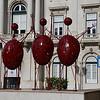 Art at Praça do Município.  Stick 'em up!