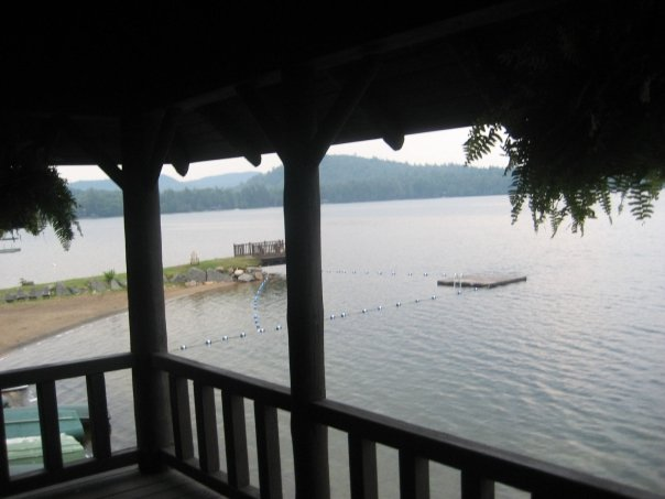 Little Moose Lake from the boathouse