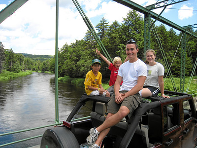 Williams and Munley on Andy's Jeep. Moose river.