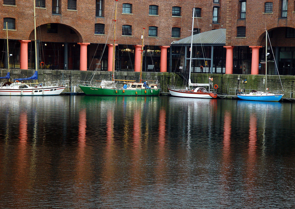 Reflections at the Albert Dock.