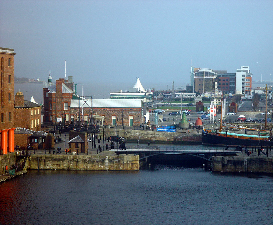 Albert Dock view.