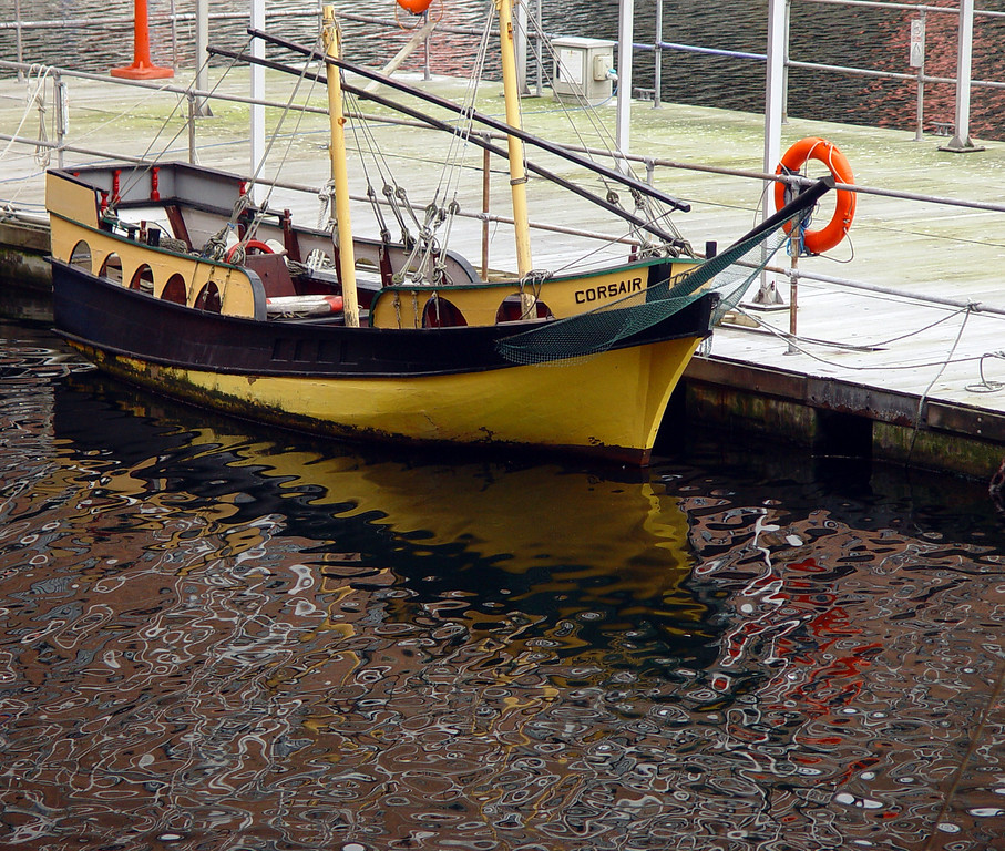 Boat at the Albert Dock.