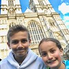 "Goofiness in front of Westminster Abbey.  We were able to participate in ""Evensong"" tonight inside the Abbey...very special."