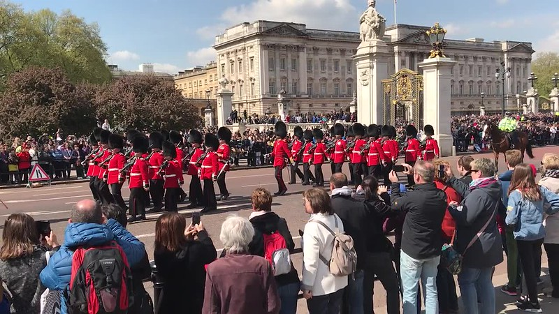 Old Guard marching from Buckingham Palace to Wellington Barracks