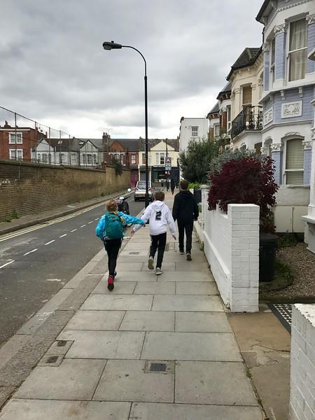 Walking to the Football Match - Fullham (local neighborhood team) v. Aston Villa.