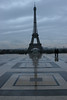 Eiffel Tower in the rain