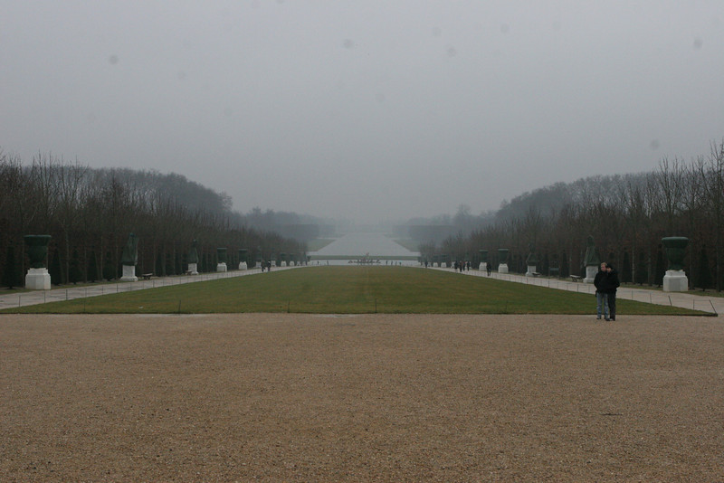 Chateau De Versailles - looking away from the chateau into the parc.