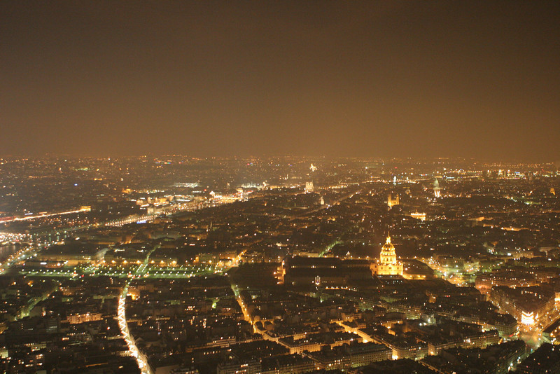 View from Eiffel Tower summit looking southeast