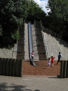 Neat playground on Islington Green.  The slide is not very slippery though.