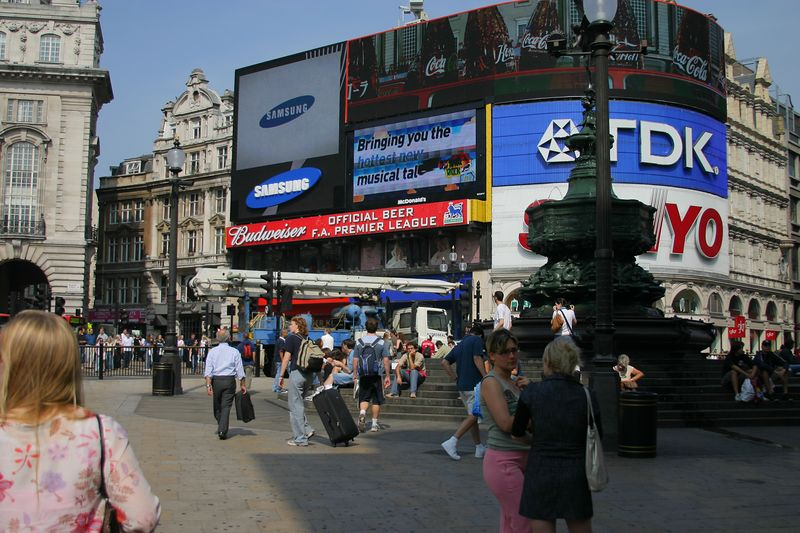 Picadilly Circus.  Most of the theatres are around here- we saw Les Miserables and The Phantom of the Opera.