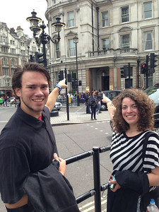 Matt and his sister Cassie were delighted to find their surname (Drummond) on a building!