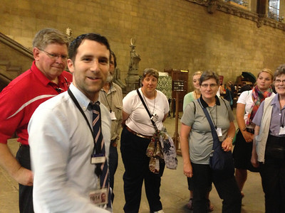 Our tour guide for the Houses of Parliament, Friday afternoon June 21.  Kay, right.