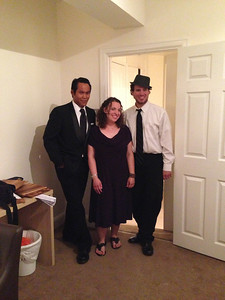 Ty, Cassie and Matt dressed up for an evening out.