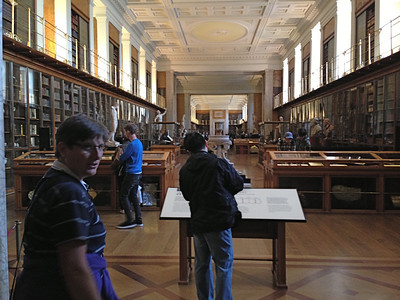 Deb showed me this room at the British Museum. It used to house the King's Library.