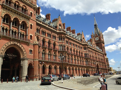 St. Pancras Hotel and station