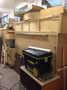 Module storage.  The club participates in numerous exhibitions.
