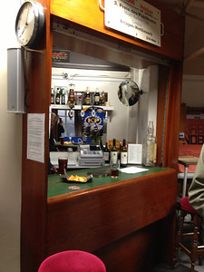 The bar at The Model Railway Club.