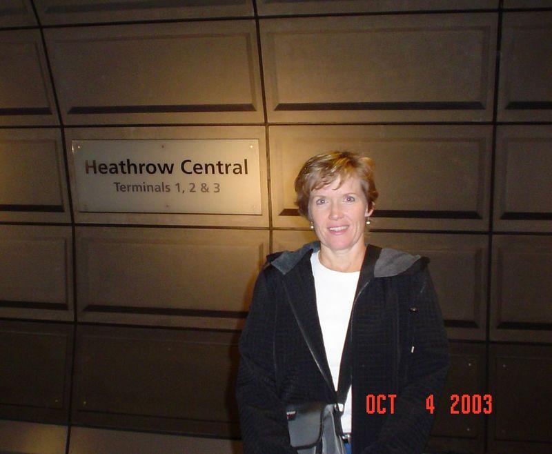 Patty at Heathrow train station