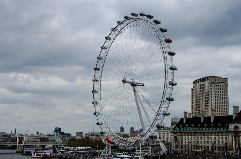 London Eye on the Thames River
