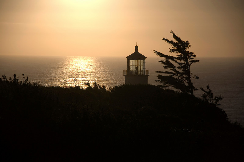 Sunset at Northhead Lighthouse , August 26th, 2010
