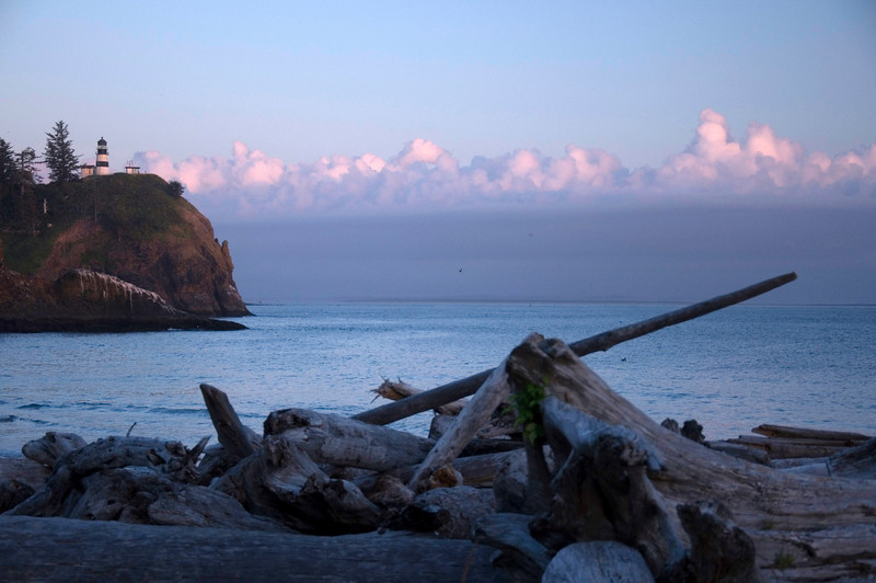 Cape Disappointment at sunset , August 26th, 2010