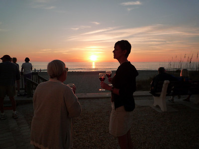Sundowner wine at Longboat Key Island.