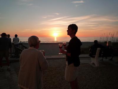 Sundowner wine at Longboat Key Island.
