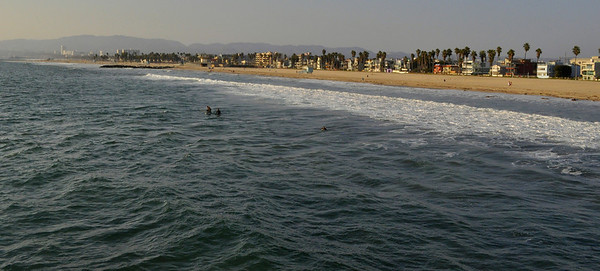 Venice Beach with the view to Santa Monica