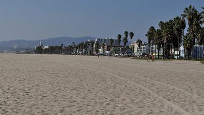 Hazy, but still beautiful. Looking at Venice Beach towards Santa Monica