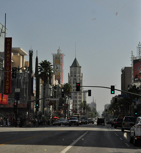 Downtown Hollywood - the tourist trap. We didn't stop