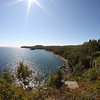 Wide angle (8mm, crop factor 1.6) view south from Split Rock Lighthouse, north of Two Harbors, Minnesota.