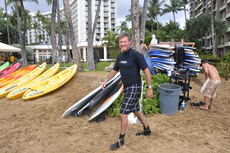 JEFF AND JAKE TOOK SURFING LESSONS.