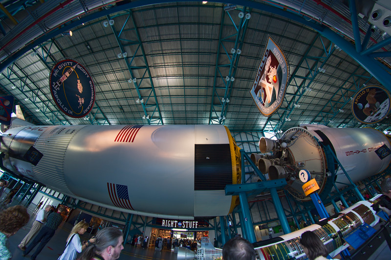 Stages 1 and 2 of a Saturn V