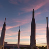 Sunset in the Rocket Garden