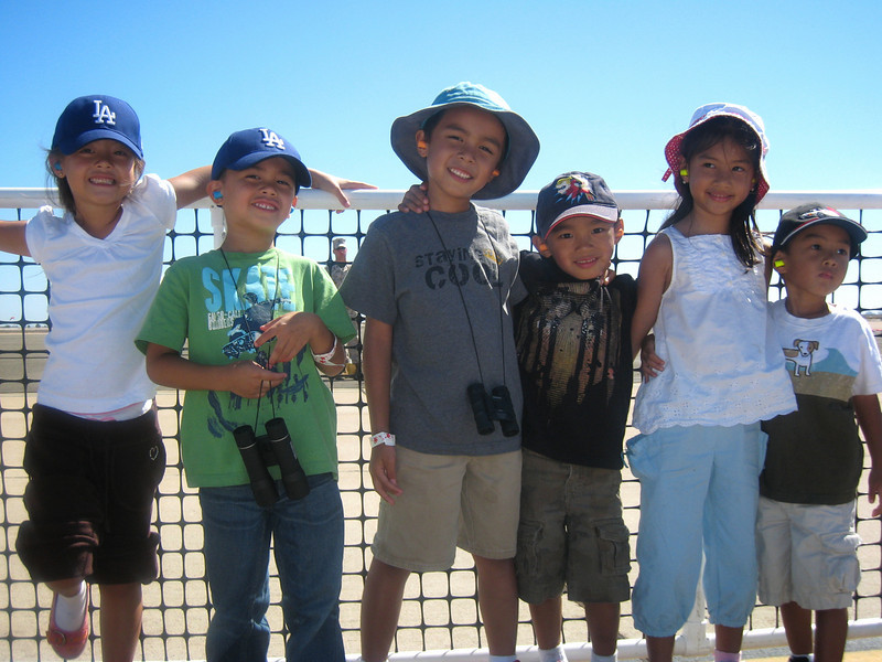 <center>The kids had a blast watching the planes especially the Blue Angels</center>