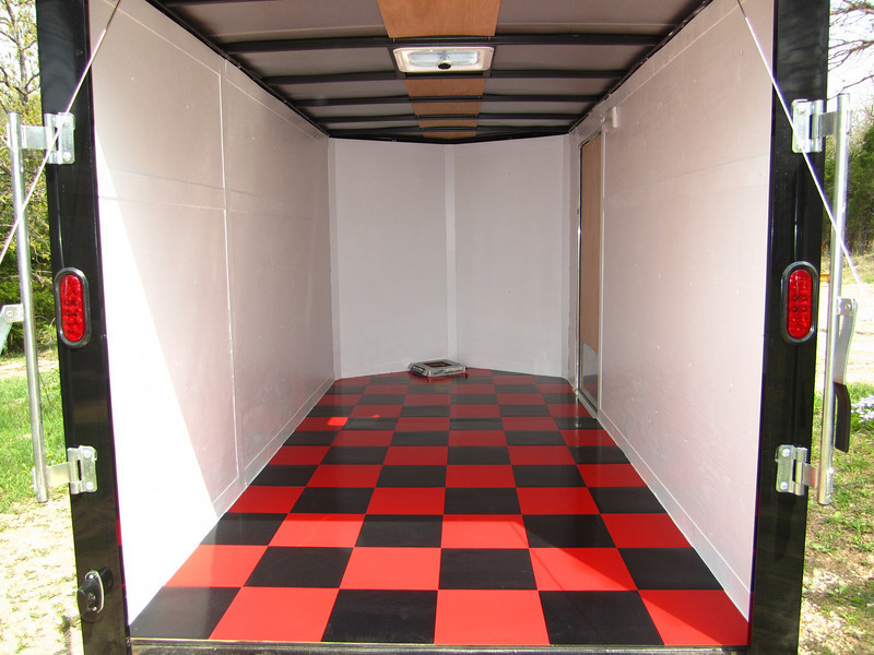 inside of justin's trailer i did