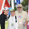 A streetwalker family portrait!!! Joy (Candi) with parents Patricia and Sarge at start line in Carlsbad.....