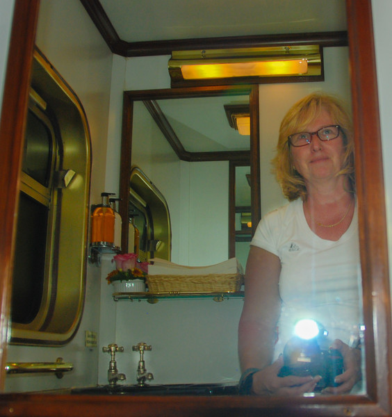 The requisite photo of self in bathroom mirror.