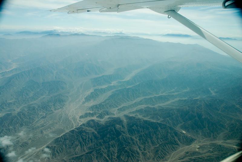 The mountainous terrain to the Nazca lines.